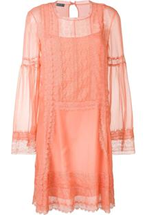 Alberta Ferretti Lace Inserts Dress - Rosa