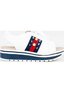 Tãªnis Ankle Boot Verniz Branco Cbk - Branco - Feminino - Sintã©Tico - Dafiti