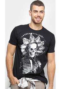 Camiseta Bulldog Fish Caveira Mexicana Masculina - Masculino