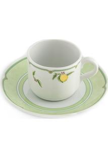 Jogo De Xícaras Chá Com Pires Em Porcelana Provenza Lemon 6 Unidades