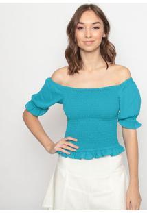 Blusa Ciganinha Com Babado- Azulla Chocolãª