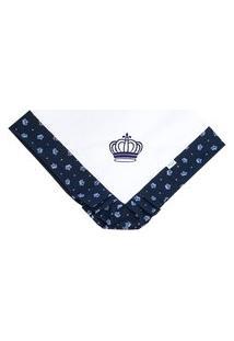 Manta Enxoval Piquet Padroeira Baby Príncipe John Azul Marinho