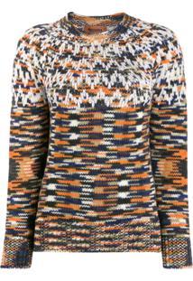 Missoni Knitted Geometric Jumper - Laranja