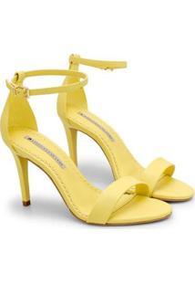 Sandália Sapatinho De Luxo Salto Fino Napa Dubai Feminina - Feminino-Amarelo