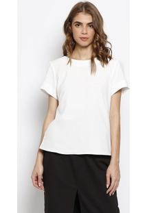 Blusa Lisa Com Recortes- Off White- Milioremiliore