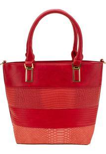 Bolsa Feminina Arara Dourada - T287 Vermelho