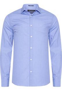 Camisa Masculina Social - Azul