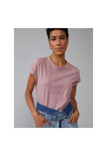 Amaro Feminino T-Shirt Joyfull Heart, Rosa Claro