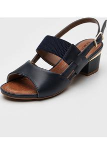 Sandália Usaflex Tiras Azul-Marinho