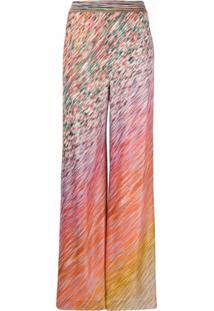 Missoni Calça Pantalona - Rosa
