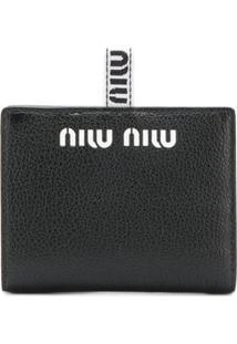 Miu Miu Carteira Com Logo - Preto