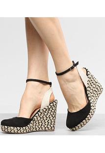 Sandália Anabela Shoestock Espadrille Corda Feminina - Feminino