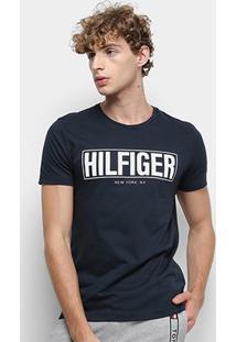 Camiseta Tommy Hilfiger Big Th Masculina - Masculino-Marinho