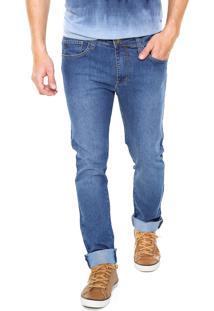 Calça Jeans Colcci Reta Pespontos Azul