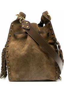 Isabel Marant Tassel-Detail Clutch Bag - Verde