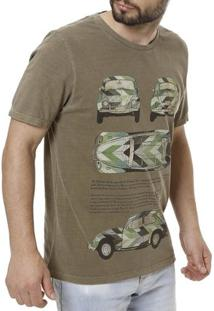 Camiseta Vels Manga Curta Masculina - Masculino-Marrom