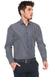 Camisa Aramis Reta Listras Cinza/Branca
