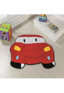 Tapete Formato Feltro Antiderrapante Carro Vermelho