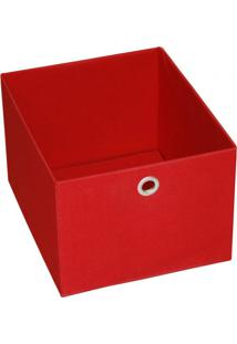 Caixa Organizadora 20Cmx27Cm Acasa Móveis Vermelho
