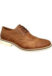 Sapato Social Sartre Oxford Inglês - Masculino-Caramelo