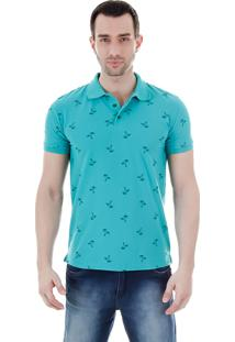Camisa Polo Masculina Code Blue - Verde