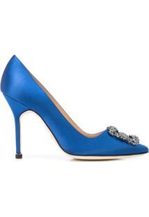 Manolo Blahnik Scarpin Hangisi - Azul