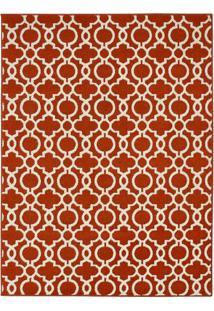 Tapete Marrakech- Vermelho Escuro & Off White- 350X2Tapete Sã£O Carlos