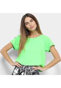 Camiseta Lança Perfume Cítrica Feminina - Feminino-Verde