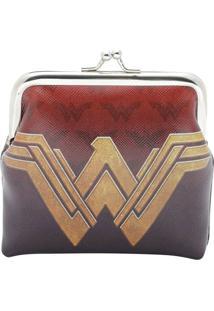 Porta Moedas Warner Bross® Wonder Woman®- Vermelho Escururban