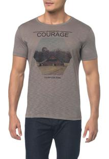 Camiseta Ckj Mc Estampa Courage Grafite Camiseta Ckj Mc Estampa Courage - Grafite - Pp