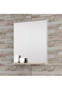 Espelheira Para Banheiro Balcony Up Com Espelho E Prateleira Mdf - Branco/Cabernet