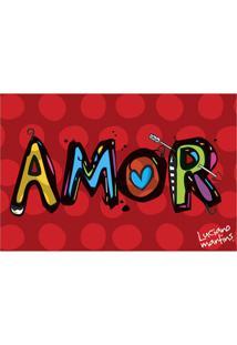 Capacho Vinil Art Luciano Martins Amor 40X60Cm