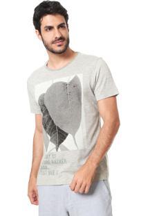 Camiseta Aramis Quadro Folhagem Cinza