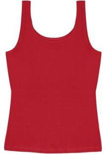 Regata Plus Size Rovitex Premium Feminina - Feminino-Vermelho