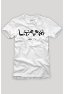 Camiseta Reserva Love Masculina - Masculino-Branco