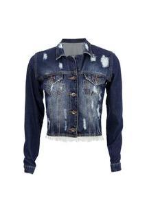 Jaqueta Tyn Jeans Cropped Destroyd