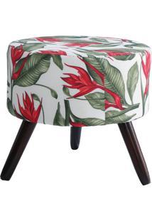 Puff Redondo Decorativo Vermelho Tropical Gigante Mã³Veis - Vermelho - Dafiti