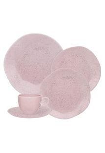 Aparelho De Jantar E Chá 30 Peças Ryo Pink Sand Rosa