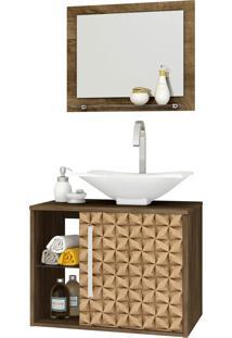 Conjunto P/ Banheiro Baden Madeira Rústica Móveis Bechara