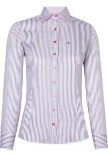 Camisa Ml Feminina Tricoline Ft (Listrado, 36)