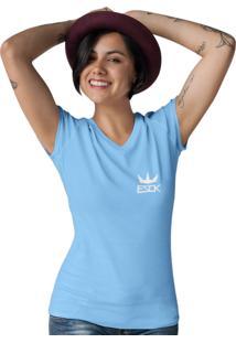 Camiseta Ezok Gola V Ezok King Azul Claro