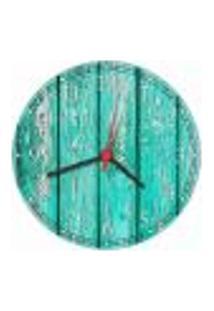 Relógio De Parede Madeira Rústico Tons Verdes Salas Cozinhas Gourmet