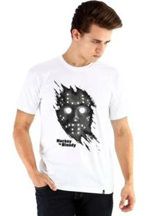 Camiseta Ouroboros Manga Curta Hockey Is Bloody - Masculino-Branco