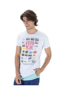 Camiseta Longline Fatal Estampada 19035 - Masculina - Branco