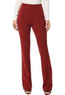 Calça Slim Flare Calvin Klein Com Detalhe No Cós Vermelho - 40