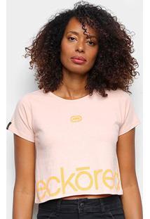 Camiseta Ecko Cropped Estampada Feminina - Feminino