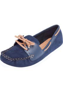 a99a185f14 Mocassim Azul Marinho Vizzano feminino