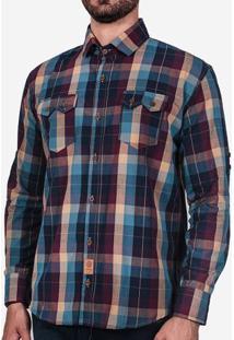 Camisa Xadrez Petróleo 200334