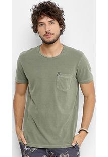 Camiseta Ellus Cotton Vintage Pocket Classic Masculina - Masculino