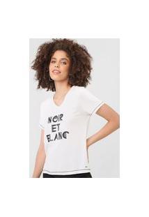 Camiseta Mob Noir Et Blanc Off-White